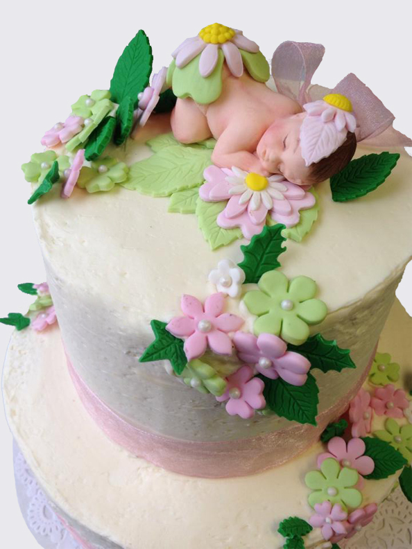 eileens bakery and cafe baby shower cake w flower baby