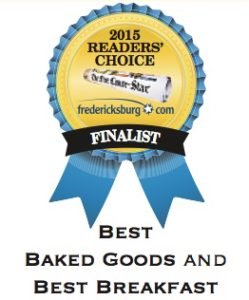Voted a 2015 Finalist for Best Baked Goods and Best Breakfast!