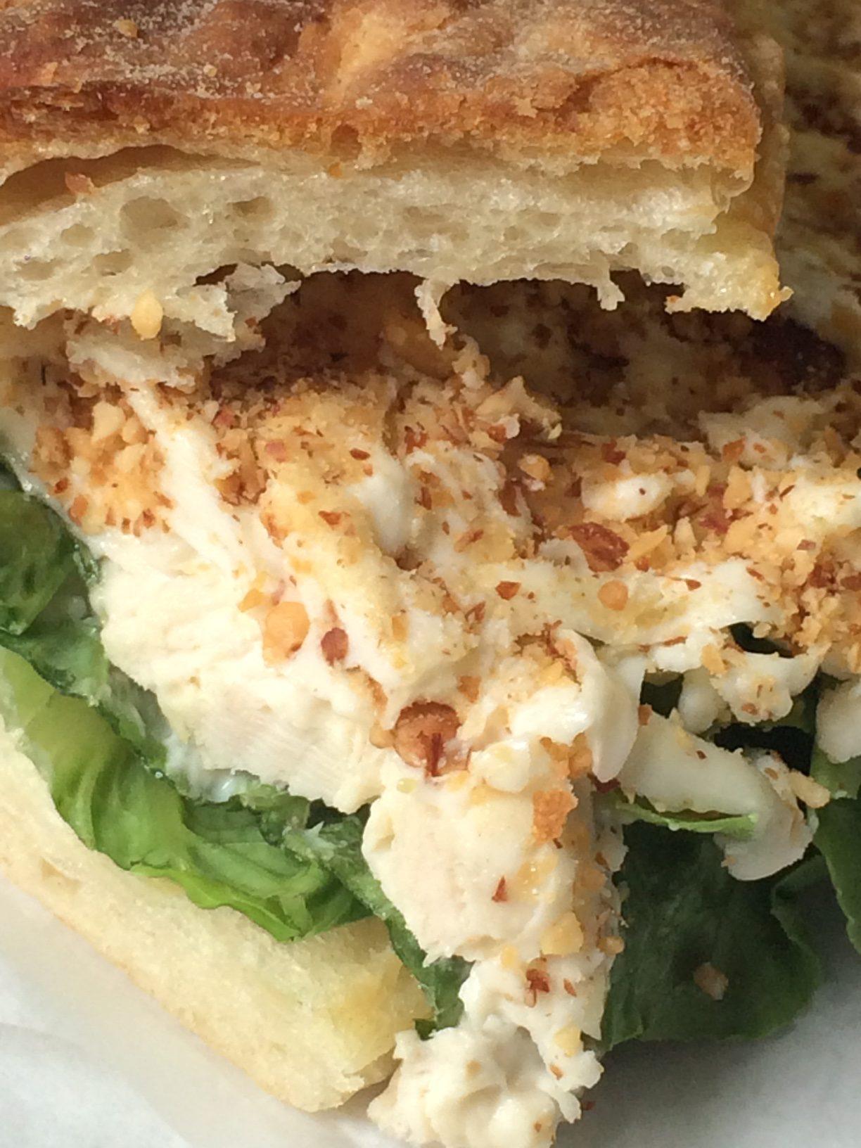 Toasted Almond Chicken Salad Sandwich